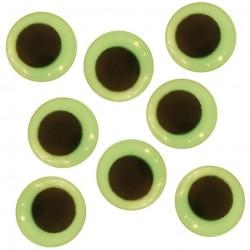 Samolepicí dekorační oči svítící - ⌀ 14 mm, 10 ks