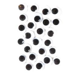 Samolepicí dekorační oči - ⌀ 10 mm, 24 ks