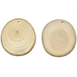 Dřevěný disk, 4-7 cm