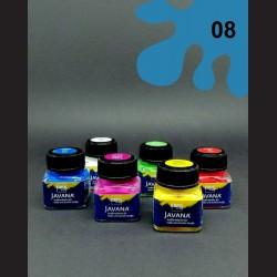 Barva na textil Javana metal - modrá, 20 ml