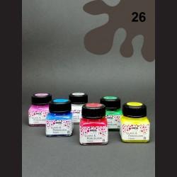 Barva na porcelán Classic - tm. hnědá, 20 ml