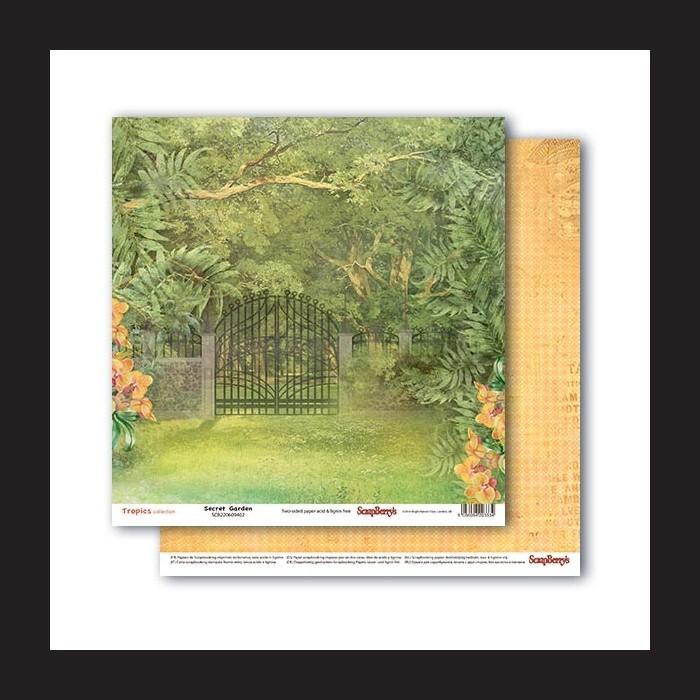 Papír na scrapbook - Secret Garden, 30,5 x 30,5