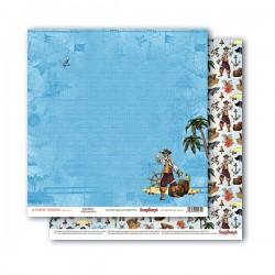 Papír na scrapbook - Land Ahoy!, 30,5 x 30,5