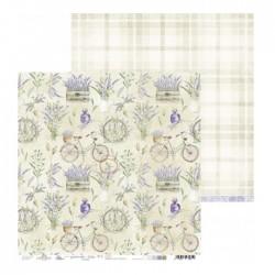 Papír na scrapbook - Lavender Hills 05, 30,5 x 30,5