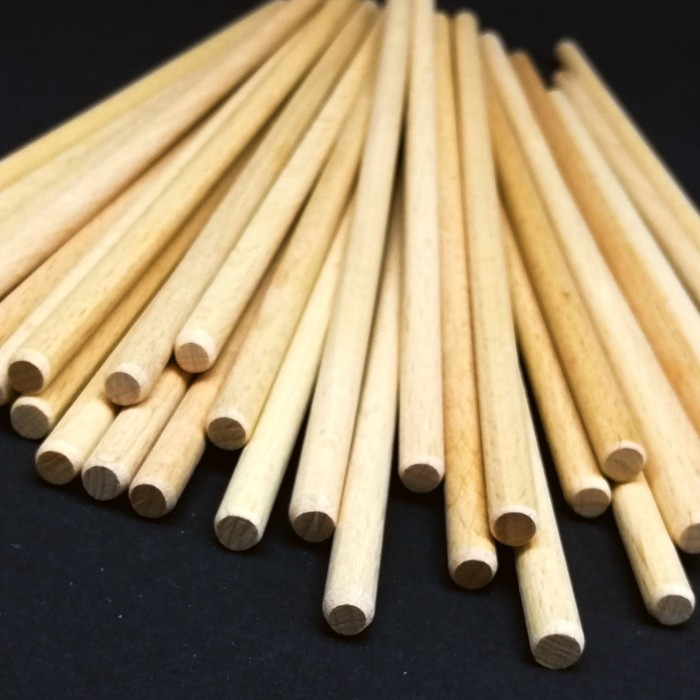 Dřevěná tyčka - 20 cm, ø 0,6 cm