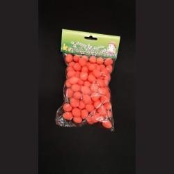 Polystyrenová vajíčka červená 2 cm 100 ks