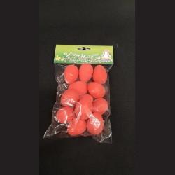 Polystyrenová vejce červená, 12 ks