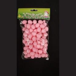 Polystyrenová vajíčka růžová, 100 ks