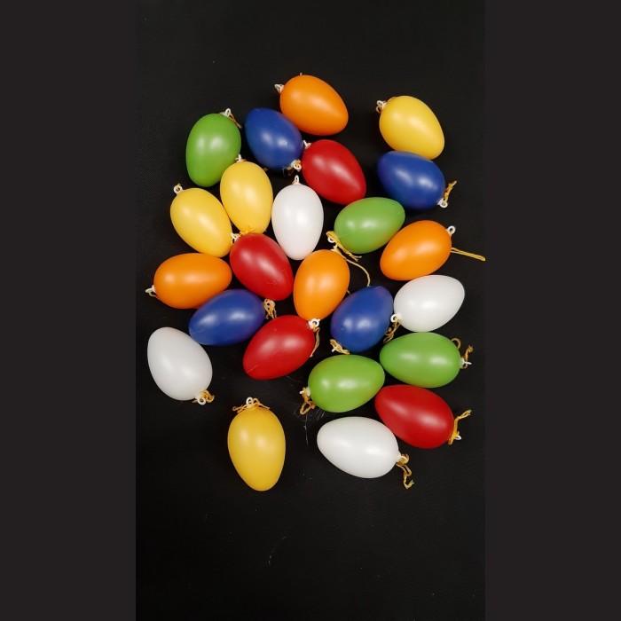 Plastová vejce mix barev 4 cm 24 ks