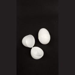 Plastová vejce 2 ks bílá, 8 cm otvírací