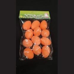 Polystyrenová vejce oranžová 12 ks