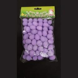 Polystyrenová vajíčka fialová 2 cm 100 ks
