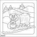 Obrázek k pískování - medvěd