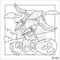 Obrázek k pískování - pterodactylus
