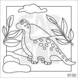 Obrázek k pískování - brontosaurus