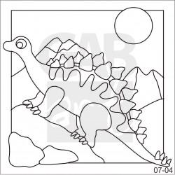 Obrázek k pískování - stegosaurus