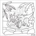 Obrázek k pískování - styracosaurus