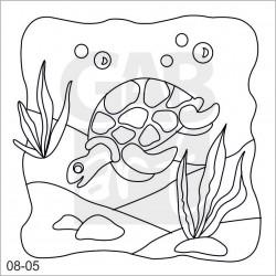 Obrázek k pískování - želva