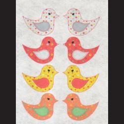 Filc s motivem - ptáčci