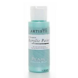 Akrylová barva, 59 ml - perleťová zmrzlá máta