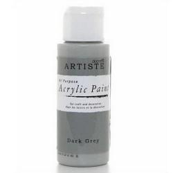 Akrylová barva, 59 ml - tmavě šedá