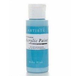 Akrylová barva, 59 ml - bledě modrá