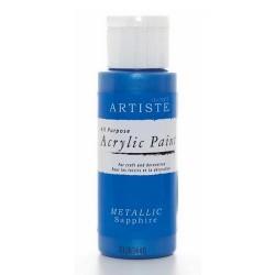 Akrylová barva, 59 ml - metalická modrá