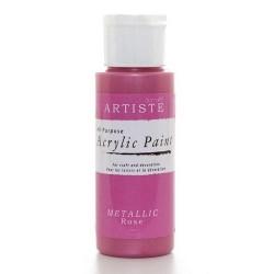 Akrylová barva, 59 ml - metalická růžová