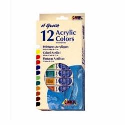 Sada akrylových barev el Greco, 12 x 12 ml