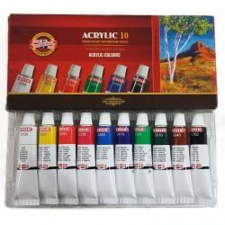 Sada akrylových barev, KOH-I-NOOR, 10 x 16 ml