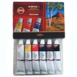 Sada akrylových barev, KOH-I-NOOR, 6 x 16 ml