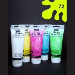 Akrylová barva fluorescentní žlutá, 100 ml
