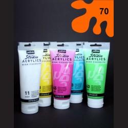 Akrylová barva fluorescentní oranžová, 100 ml