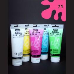 Akrylová barva fluorescentní růžová, 100 ml