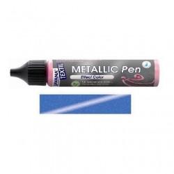 Metallic pen na textil - safírové, 29 ml