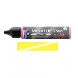 Metallic pen na textil - žluté, 29 ml