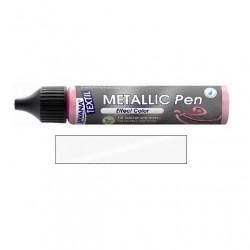 Metallic pen na textil - bílé, 29 ml