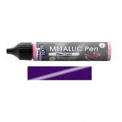 Metallic  pen na textil - fialové, 29 ml