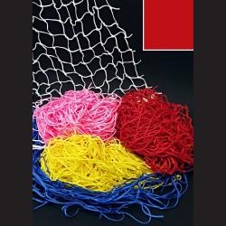 Dekorační síť - červená, 1 x 1 m, oko 5 cm