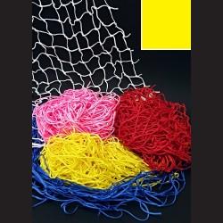 Dekorační síť - žlutá, 1 x 1 m, oko 5 cm