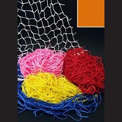 Dekorační síť - oranžová, 1 x 1 m, oko 10 cm