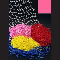 Dekorační síť - růžová, 1 x 2 m, oko 10 cm