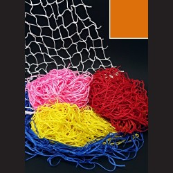 Dekorační síť - oranžová 1 x 5 m, oko 10 cm