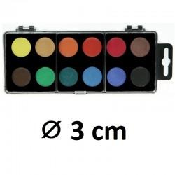 Vodové barvy KOH-I-NOOR, ⌀ 3 cm, 12 barev