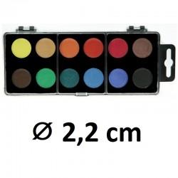 Vodové barvy KOH-I-NOOR, ⌀ 2,2 cm, 12 barev