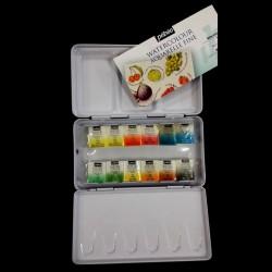 Kapesní sada akvarelových barev PÉBEO, 12 x 3 g