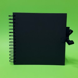 Scrapbookové album,  černé - 20 x 20 cm