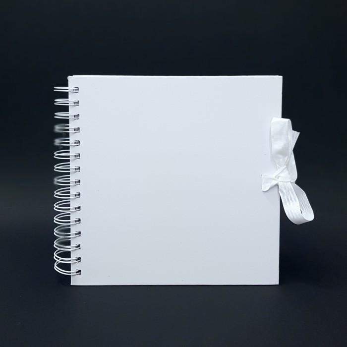 Scrapbookové album,  bílé - 20 x 20 cm