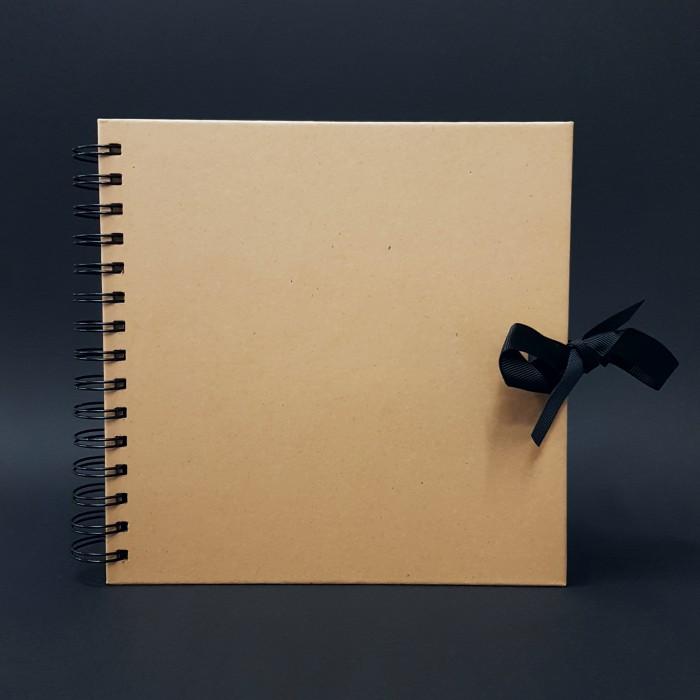 Scrapbookové album,  přírodní - 20 x 20 cm