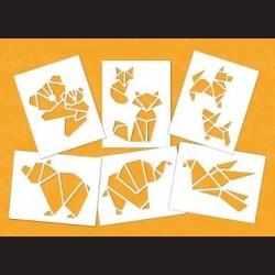 Papírové šablony - GEOMETRIK ZOO, 6 ks